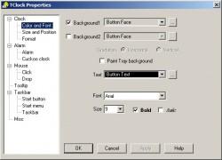 TClock Property screen shot