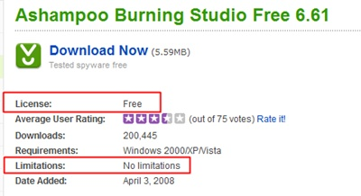 free studio cd burner